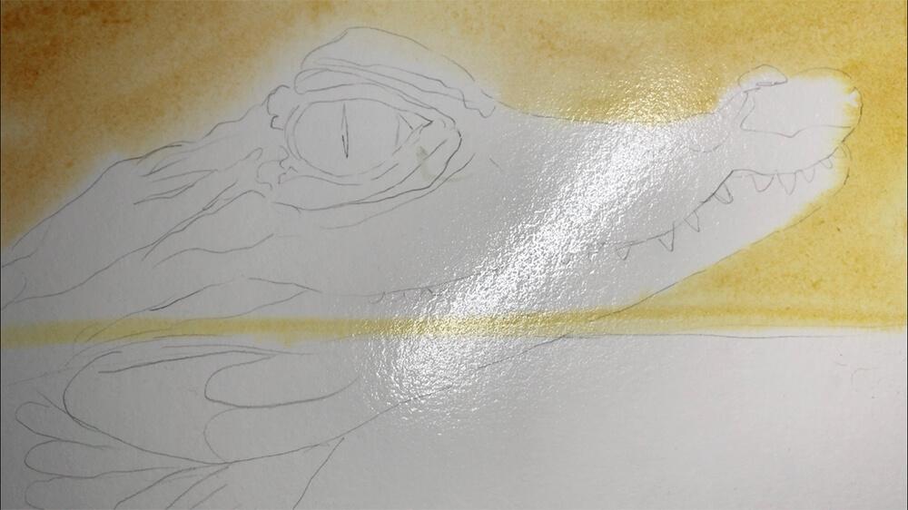 Akwarela mokre w mokre tutorial